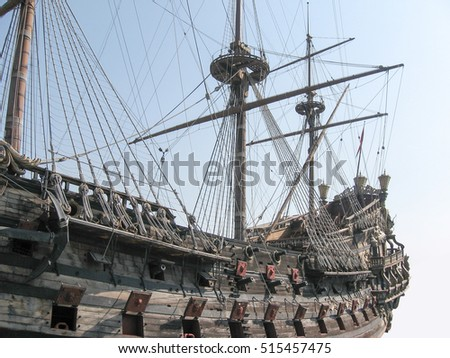 galleon, 15th century ship, faithful reconstruction