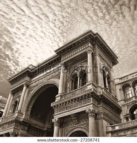 Galleria Vittorio Emanuele - stock photo