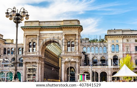 Galleria Vittorio Emanuele II in Milan, Italy - stock photo