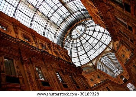 Galleria Vittorio Emanuele, Milan (Italy) - stock photo