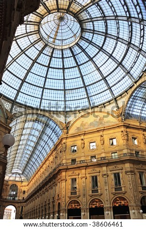Galleria Vittorio Emanuele, Milan, Italy - stock photo