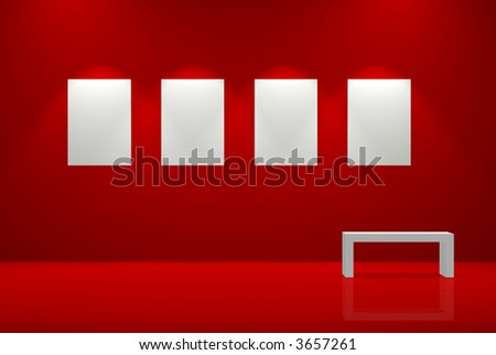 Gallery - stock photo