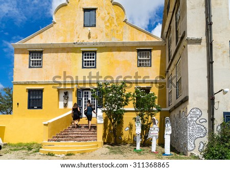 Gallery Alma Blou - View around Curacao a Caribbean Island - stock photo