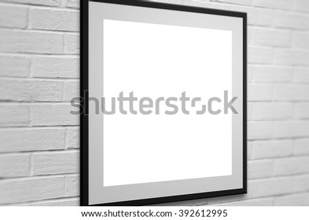 Gallery Frame on Wall  Background - stock photo