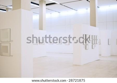 Gallery interior - stock photo