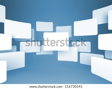 Gallery of Blank Images on Blue background.