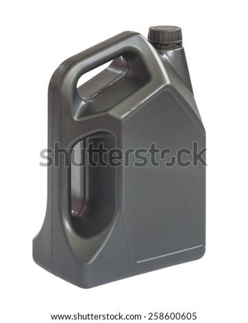 Gallon of lubricant oil, clipping path include in file. - stock photo
