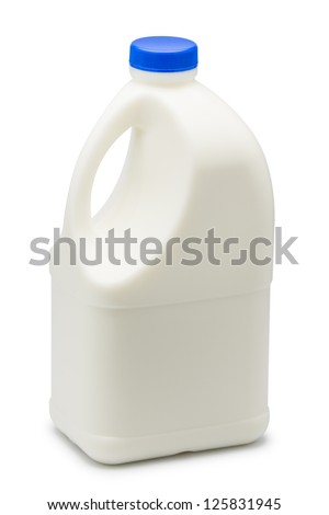 Gallon of milk isolated on white background - stock photo