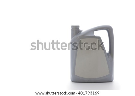 Gallon oil isolated on white background - stock photo