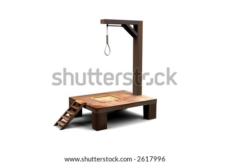 Gallows - stock photo