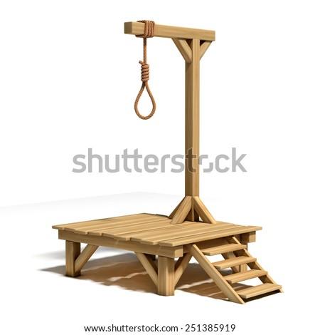 gallows 3d illustration - stock photo