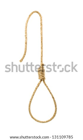 Gallows isolated on white background - stock photo