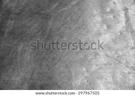 galvanized steel plate background - aluminum reflection scratches grunge metallic stainless corrugated chrome texture - stock photo