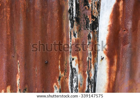 galvanized steel plate background - grunge old rustic surface metallic stainless corrugated texture