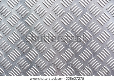 galvanized steel plate background - metallic stainless corrugated chrome texture - stock photo