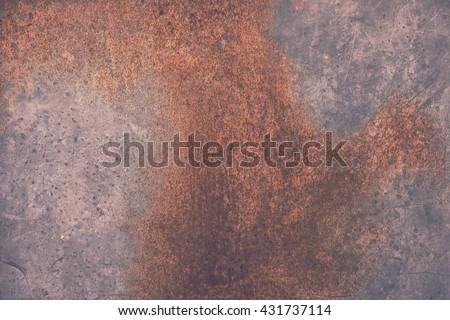 Galvanized Steel Plate Grunge Rustic Background