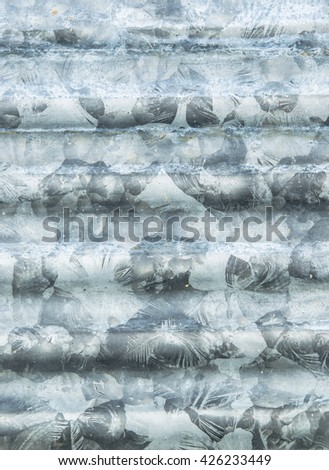 galvanized  texture for background - stock photo