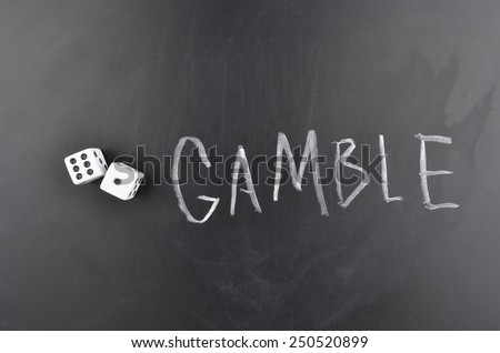 Gamble - stock photo