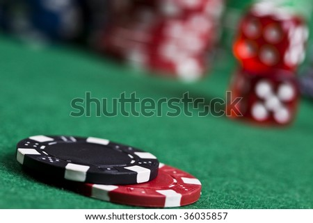 Gambling chips - stock photo