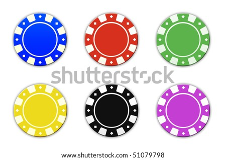 gambling chips isolated on white