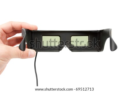 Gambling 3D glasses. Isolated on white background - stock photo