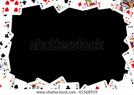 gambling frame made from poker cards - stock photo