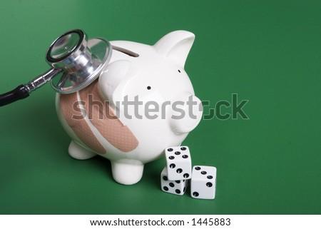 Gambling health of your finances - stock photo