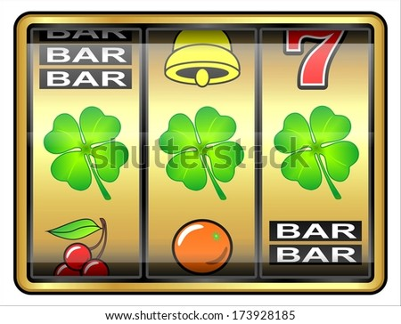Gambling illustration. Clover, concept, luck - stock photo