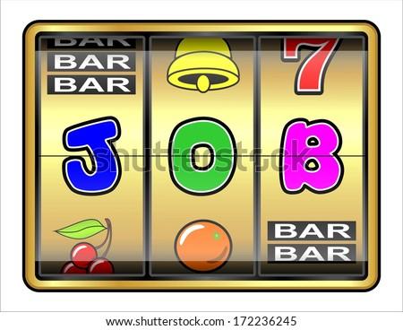 Gambling illustration. Job opportunity - stock photo