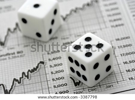 Gambling on Stocks and Shares - stock photo