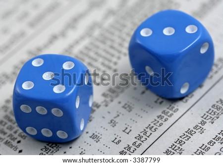 Gambling on Stocks and Shares - stock photo