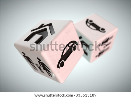 Gambling with your family, car and house. Rolling the dice, taking a chance on loosing everything you own or unsure of the correct financial decisions to make in life and how to get advice to decide.