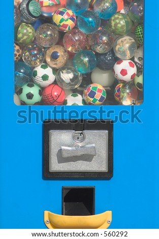 Game balls machine dispenser - stock photo