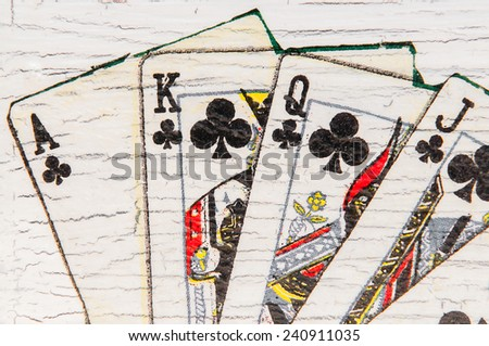 game cards backgrounds - stock photo
