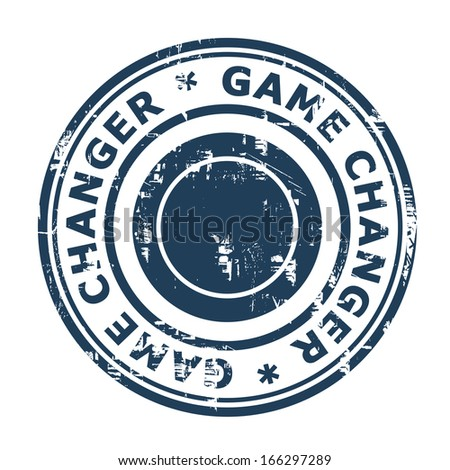 Game Changer business stamp isolated on a white background. - stock photo