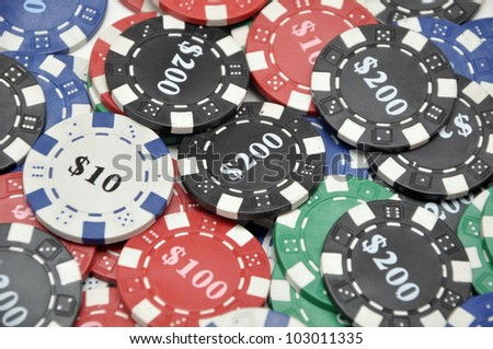 game chips - stock photo