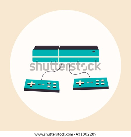 Game console. flat illustration. Material design.  - stock photo