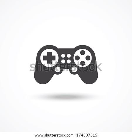 Game controller icon - stock photo
