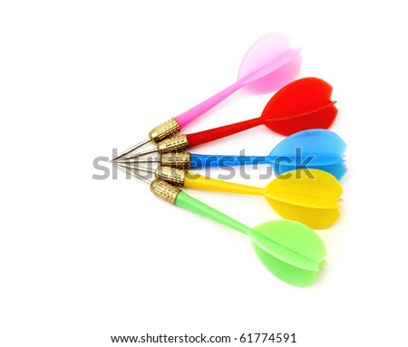 Game darts. It is isolated on a white background.