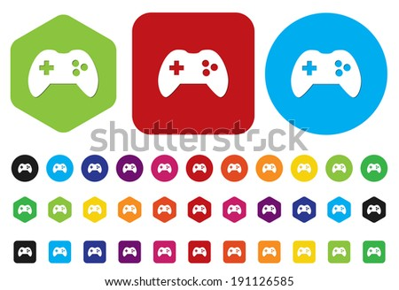 game icon button - stock photo