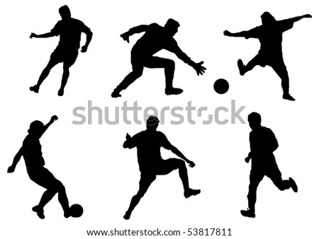 Game in football. - stock photo