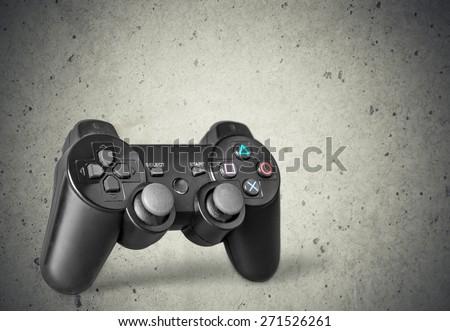 Game, joystick, controller. - stock photo