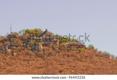 game lodge in south africa - stock photo