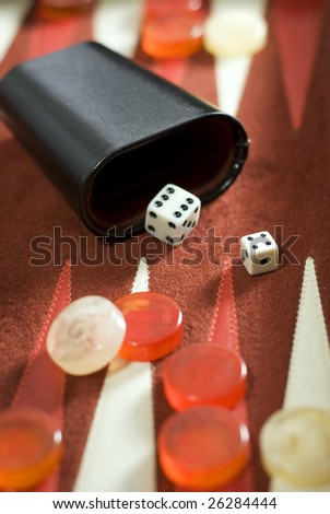 Game of backgammon - stock photo