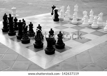 Game of Chess. White goes first! - stock photo