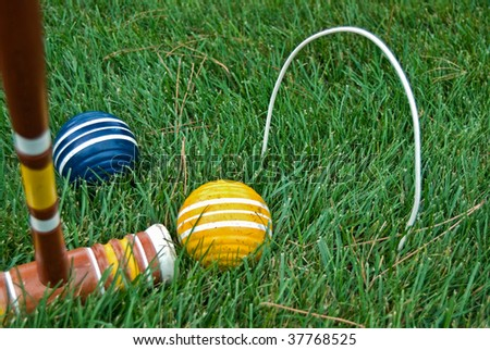 game of croquet - stock photo