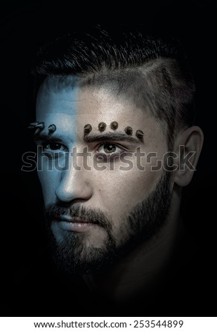 Game of Thrones styled male studio portrait - stock photo