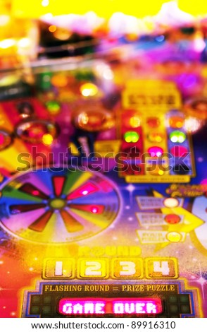 Game over - Abstract pinball background - stock photo