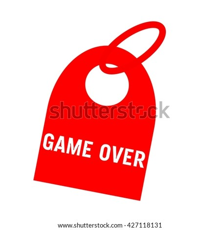Game over white wording on background red key chain