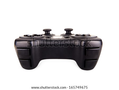 Game pad isolated on a white background - stock photo